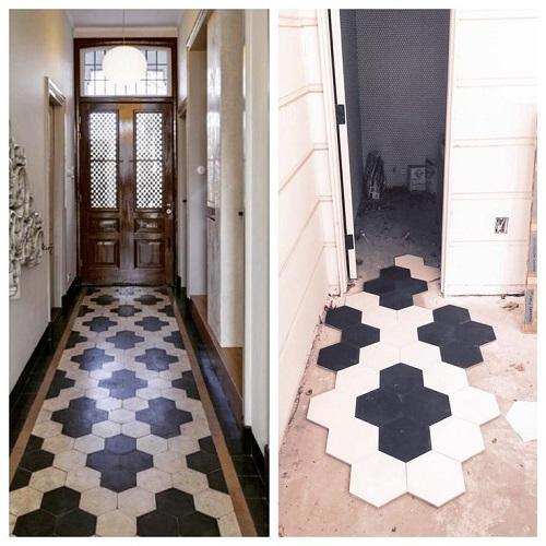 Foyer Tile Utah : Mul quot x hexagon grey tile for less utah