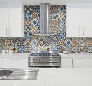 """Cement"" Look Deco Tile"